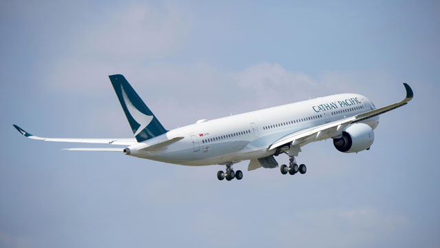 Cathay Pacific Airbus A350-900 first take off