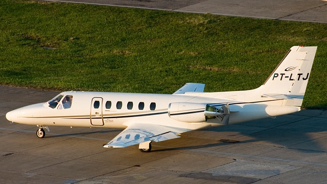 Cessna Citation II Unfallflugzeug